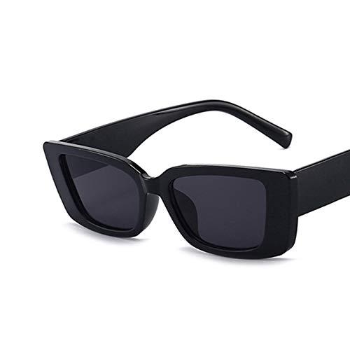 Fashion Square Gafas de Sol de Lujo de la Marca de Lujo Viaje Vintage Retro Pequeñas Mujeres Rectángulo Gafas de Sol UV400 Gafas de Sol Gafas de Ojos Moda Gafas de Sol para Mujeres