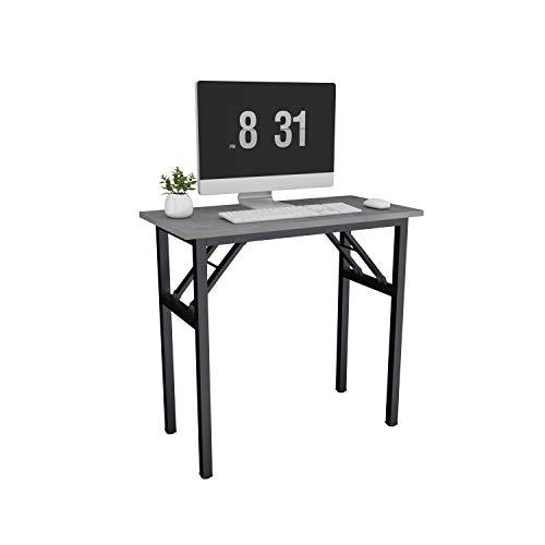 Need Schreibtisch Klapptisch aus Holzwerkstoffen Kleiner Computertisch PC Tisch Bürotisch Arbeitstisch Esstisch für Zuhause, Büro, Picknick, Garten 80 * 40 cm,Hellgrau