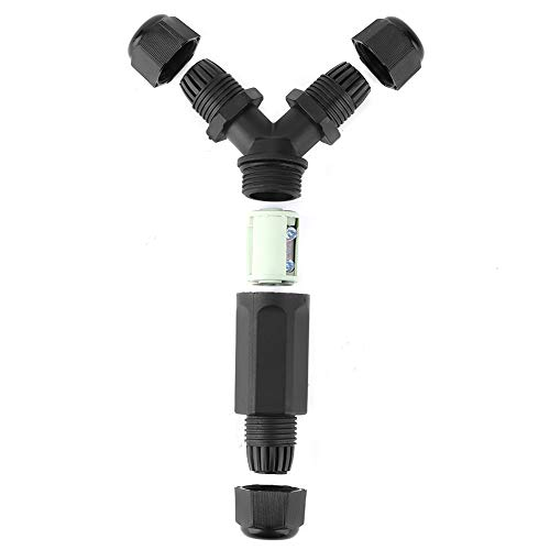 Conector de cable a prueba de agua Fuente de alimentación de iluminación anti-UV Caja de conexiones de 3 pines para jardín de casa
