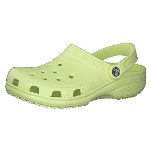 Crocs unisex adult Men's and Women's Classic | Water Shoes Comfortable Slip on Shoes Clog, Lime Zest, 6 Women 4 Men US