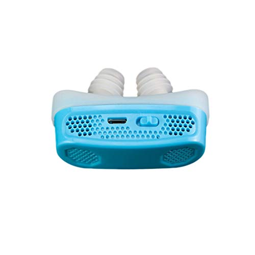 Manoch 1Pc CPAP Micro Anti Snoring Electronic Device Sleep Apnea Snore Aid Stopper Material: ABS Color: Blue Size: 62x27x32mm /2.44x1.06x1.26 inches Function: CPAP, Aid Snore Stopper, PM 2.5 Filter