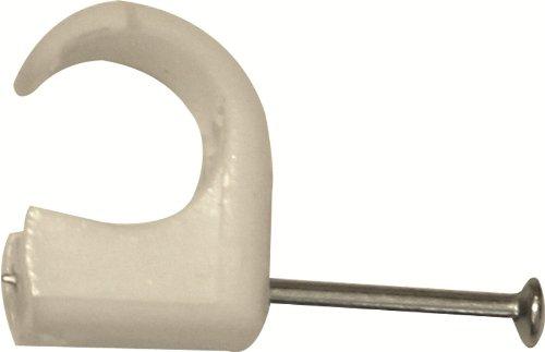 Legrand LEG98332 Multifix - Grapas flexibles para cable eléctrico (100 unidades, diámeto de 14-20 mm), color blanco