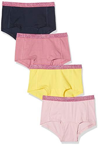 NAME IT Mädchen 13173280 Unterhose, Mehrfarbig(Aspen GoldAspen Gold), 134 (Herstellergröße: 134-140) (4er Pack)