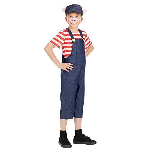 Fun Shack Azul Cerdito Disfraz para Niños y Niñas - M