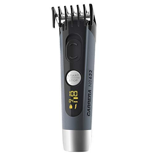 CARRERA Haarschneider No 622 | Haartrimmer 4-19 & 21-36 mm Aufsätze | Li-Ion Akku USB-Ladeoption | Keramik Schneidmesser