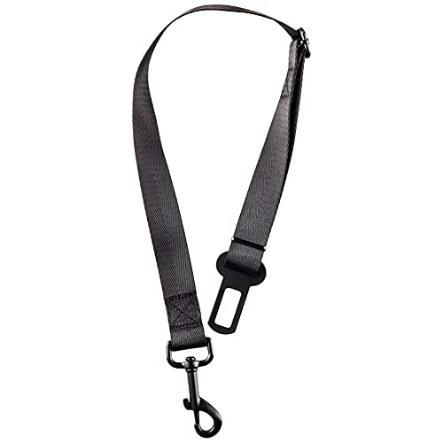 Cintura Sicurezza Cani Cintura di Sicurezza Regolabile in Nylon Materiale E Forte Moschettone Massima Sicurezza per Tutte Le Razze e GattiS 1 (black)