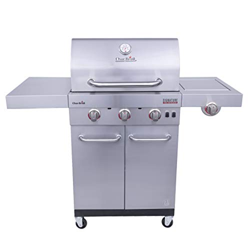 Char-Broil 463342620 Signature TRU Infrared 3-Burner Cabinet Style Gas Grill, Stainless Steel Grills Propane