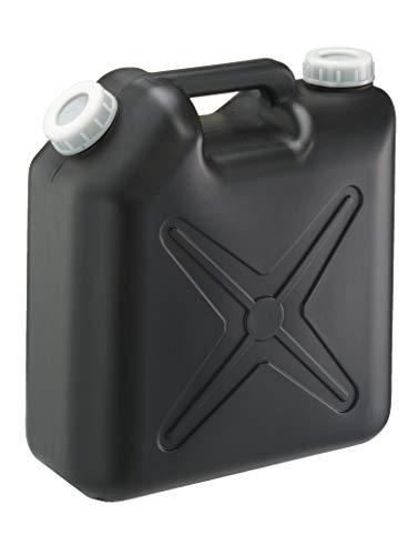 瑞穂化成 扁平缶 ノズル無 10L ブラック 0206BK 両口 カラーポリタンク