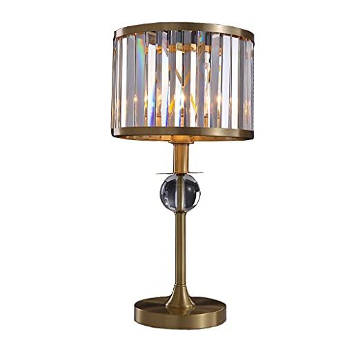 Lámpara de Escritorio Lámpara de mesa de noche de cristal de lujo...