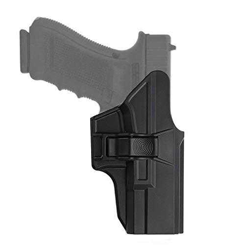 efluky Glock Holster Funda para Pistola Molle Pistolera Cintura Airsoft Gun Holster para Glock 19 23 32(Gen1-5), Glock 19X, Glock 45, Belt Clip 60°Adjustable