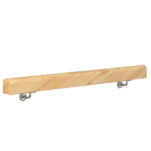 YO-TOKU Escalera de madera barandilla pasamanos de madera Barandilla con soporte de hierro for uso en interiores y al aire libre en los lofts de hospital de jardín de infantes y el pasillo Cuidado per