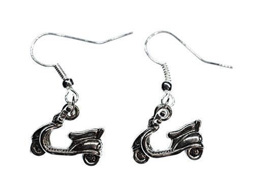Miniblings Roller Mofa Ohrringe Motorroller Hänger Moped Fahrzeug Motorrad - Handmade Modeschmuck I Ohrhänger Ohrschmuck versilbert