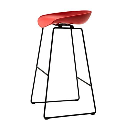 KAI LE barkruk, Europese minimalistische smeedijzeren barkruk Home barkruk plastic zitting en metalen frame frame zithoogte 65 cm of 75 cm