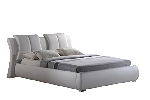Global Furniture Bed, Queen, White Upholstered