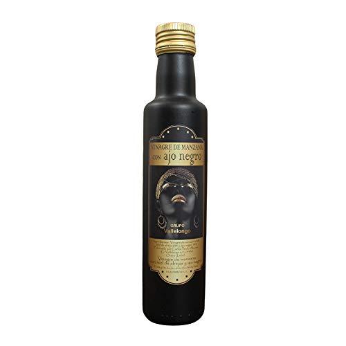 Vallelongo Vinagre de Manzana con Miel y Ajo negro | Combinación perfecta y saludable | 100{dc094b0fbd1b08945a0727cbf43343c4448836b52e31d5362e61e6db9fd6c4a8} Natural | Producto Gourmet | Botella de 250 ml