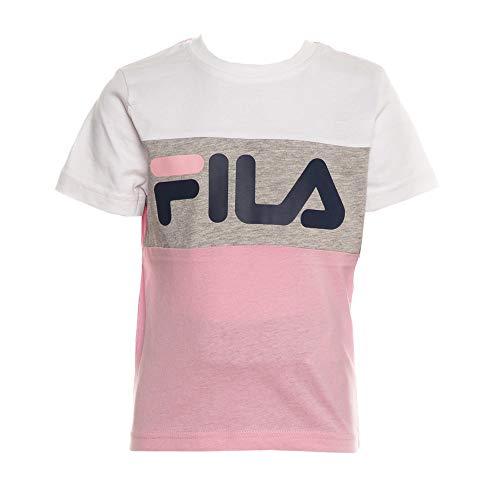 Fila T-Shirt Rose/Blanc Fille Thea Blocked