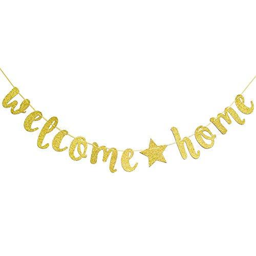 Speed Sell EU Welcome Home Girlande herzlich willkommen zuhause Banner für Familie Party Dekoration