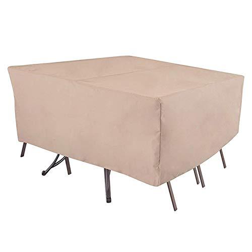 Csy Fundas para Muebles de Jardín, Impermeable Fundas para Mesas, Anti-UV Funda Protectora,Anti-UV 210D Oxford Protección Exterior Muebles de Jardín Sofá,Mesa,Silla (Size : 308 * 138 * 98CM)