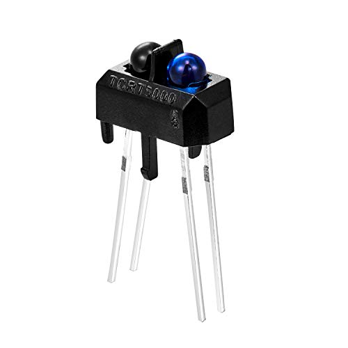 Chanzon 10 pcs TCRT5000 Infrared Ray IR LED Diode Lights (Black Round Lens DC 20mA) Lighting Bulb Lamps Electronics Components Indicator Light Emitting Diodes