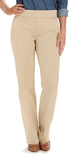 Lee Women's Petite Natural Fit Pull On Dana Barely Bootcut Pant