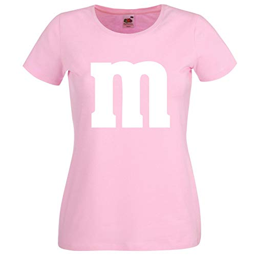 Nation - Camiseta de manga corta para mujer, cuello redondo, para carnaval, talla M, diseo de grupo Rosa. M