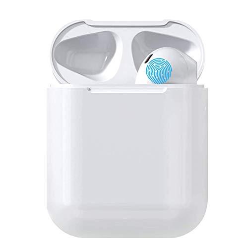I18 Auricolare Bluetooth Senza Fili, Cuffie Wireless Stereo 3D with IPX5 Impermeabile, Accoppiamento Automatico Per Chiamate Binaurali, con microfono Compatibile con iPhone/Android/Samsung