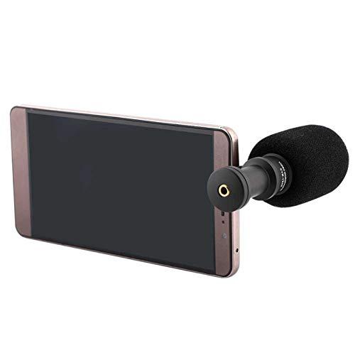 KUIDAMOS Micrófono Duradero para teléfono móvil con micrófono para teléfonos Inteligentes/entrevistas con Manguito de Viento