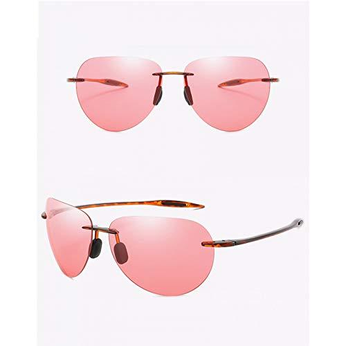 SXRAI Gafas de Sol ultraligeras sin Montura para Hombre, Gafas de Sol para Conducir, protección UV Masculina,C7