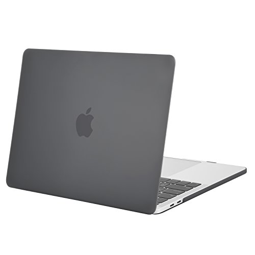 MOSISO MacBook Pro 13 inch Case 2019 2018 2017 2016 Release A2159 A1989 A1706 A1708, Plastic Hard Shell Cover Compatible with MacBook Pro 13 with/without Touch Bar and Touch ID, Gray