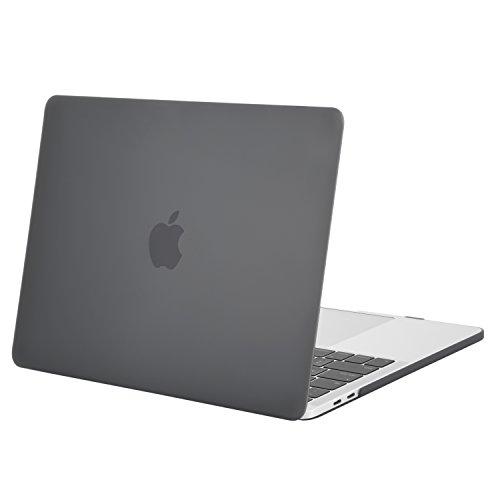 MOSISO Hülle Kompatibel mit MacBook Pro 13 2019 2018 2017 2016 Freisetzung A2159 A1989 A1706 A1708 - Plastik Hülle Kompatibel mit MacBook Pro 13 Zoll mit/ohne Touch Bar, Grau