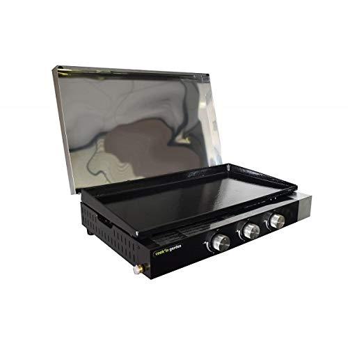 Cook'in Garden Plancha gaz 3 Feux FINESTA 75 cm avec Capot