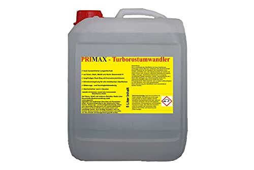 Primax Rostumwandler, Rost-Stopp mit Korrosionsschutz für den langanhaltenden Rostschutz in der Familienpackung, 5 Liter