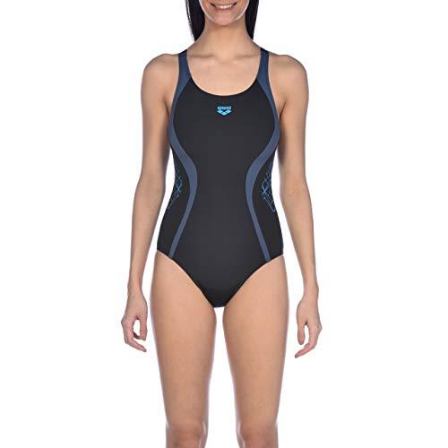 arena Damen Sport Badeanzug Balance Maillot de Bain Femme, Black-Shark, Taille 38