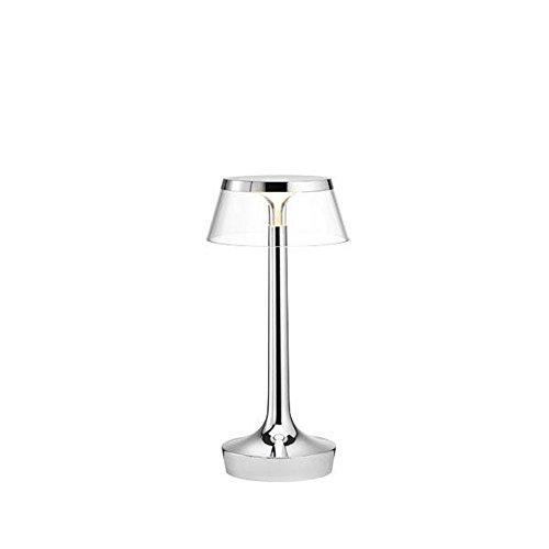 Flos Bon Jour lámpara con corona 6W, cromo/transparente