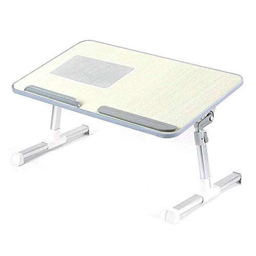 NBVCX Mechanical Parts Lap Desk Bed Tray Bamboo Table Handles Foldable Breakfast Serving Tray Pull Down Legs Portable Laptop Stand Multifunctional Lazy Small Table