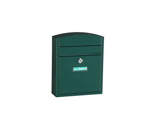 Arregui Compact E5733 Buzón Individual de Acero, Verde, Tamaño S (DIN A5) -28.5 x 24 x 9.5 cm