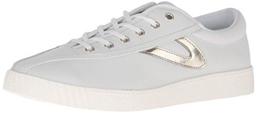 TRETORN Women's Nylite 2 Sneakers, Snow White/Gold, 7 Medium US