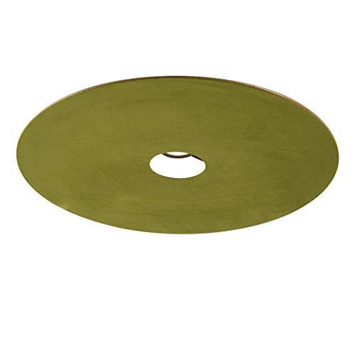 QAZQA Velours platte lampenkap groen met goud 45 cm, hang kap