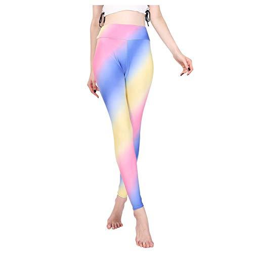 Lenfeshing Leggins Mujer Mallas Pantalones Deportivos Alta Cintura Elásticos Yoga Fitness Leggings de Deporte Tie Dye