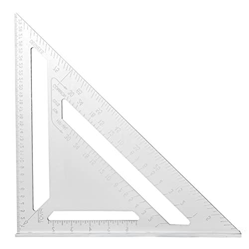 N\A YANSHON Triangolo di Alluminio da 12 Pollici Metrico Squadrette da Carpentieri Strumento di Misurazione Triangolo Goniometro di Angolo 90 Gradi Righello Triangolare da Carpentiere