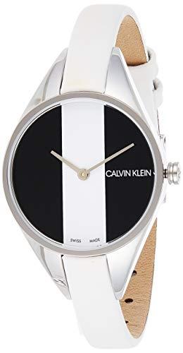 Calvin Klein Damen Analog Quarz Uhr mit Leder Armband K8P231L1