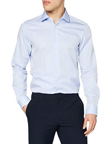 Strellson 11 Santos 10000894 Camicia Business, Blu (Pastel Blue 459), 37 cm Uomo
