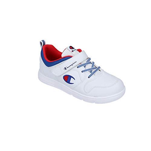 [チャンピオン] キッズ ジャム コート3 CP KJ022 キッズ スニーカー ホワイト ブラック ピンク 2E ベルクロ マジックテープ 軽量 抗菌 防臭 カップインソール 運動靴 ジュニア 男の子 女の子 ホワイト 19.0cm