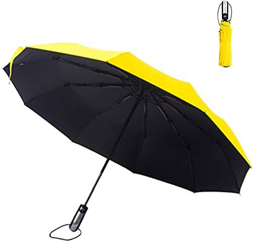 JUST ALONE Paraguas de Negocios de Hombres automáticos, Paraguas automático de 10 Huesos (Color : C)