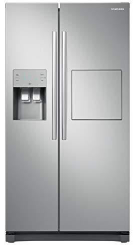 Samsung RS50N3803SA freistehender 501L A+ Edelstahl Side by Side Kühlschrank (unabhängig, Edelstahl, amerikanische Tür, LED, Touch, R600a)