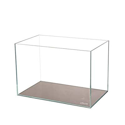 Lifegard Aquatics Ultra Low Iron Crystal Aquarium Beveled Edge 45° Rimless 17.11 Gallons, Clear