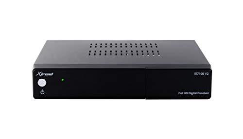 XTREND ET 7100 V2 HD 1x DVB-C/T2 Tuner H.265 Linux (Full HD, 1080p, HbbTV, Receiver) Schwarz