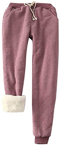 HAPPKING Super Thick Cashmere Wool Leggings, Super Thick Cashmere Leggings, Cashmere Leggings, Winter Warm Leggings, Women's Thermal Winter Leggings for Girls (Farbe : Wein, Größe : XL)