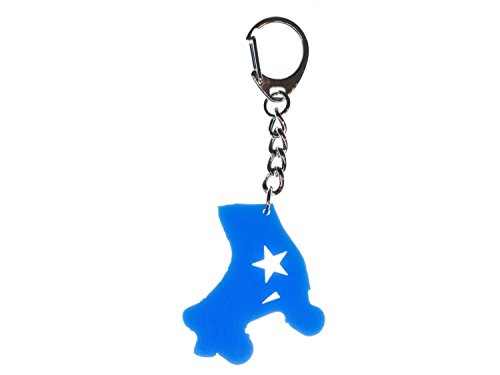 Miniblings Rollschuh Schlüsselanhänger blau Inline-Skates Rollschuhe