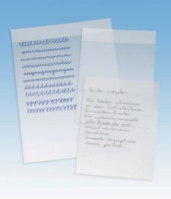 TimeTex Set Schreibfolien mit Fixierleiste - 5 Stück - A4 - Übungs-Schreibfolie - TimeTex 62361